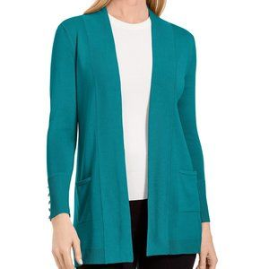 !! ~Teal Open-Front Cardigan w/ Pocket Fronts ~ !!